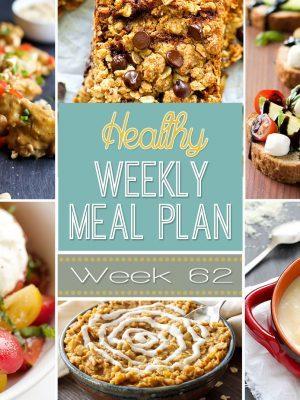 Healthy Weekly Meal Plan #62