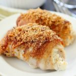 Bacon Wrapped Cream Cheese Chicken Rollups are easy to make and are packed with flavor! Cream cheese and green onions are spread over chicken cutlets and wrapped in bacon and baked then topped with bread crumbs. This is a dish everyone will rave over! Plus 22 more delicious bacon recipes for you to drool over. You're welcome! ;)