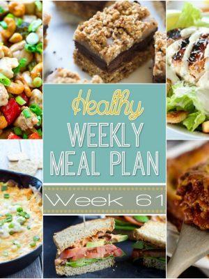 Healthy Weekly Meal Plan #61