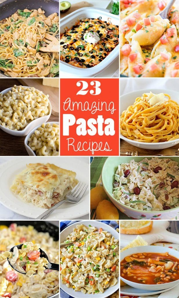 23 Amazing Pasta Recipes to celebrate National Pasta Day!!