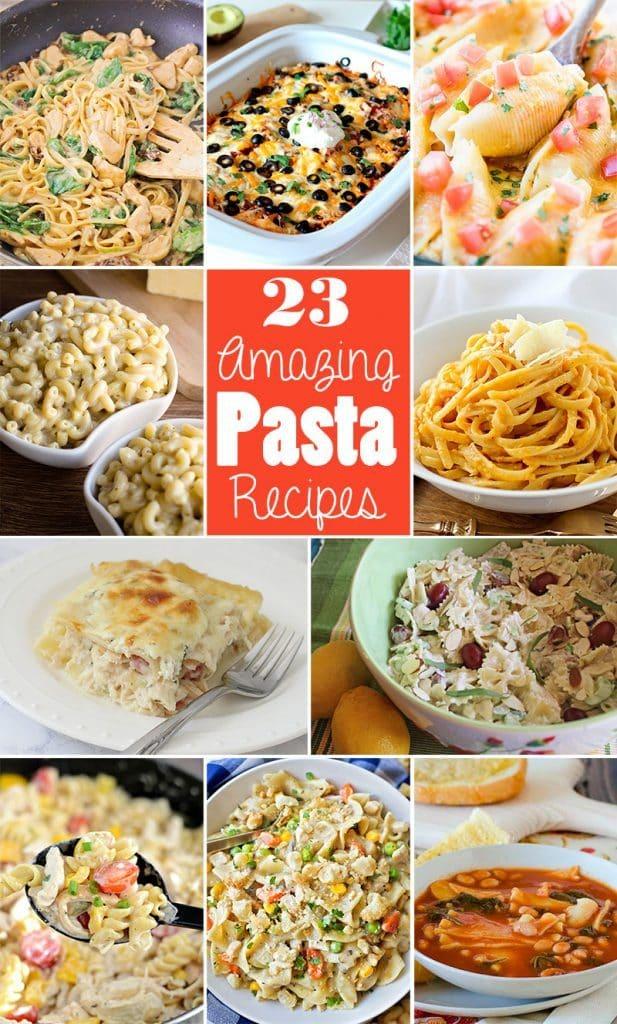 23 Amazing Pasta Recipes to celebrate National Pasta Day!!