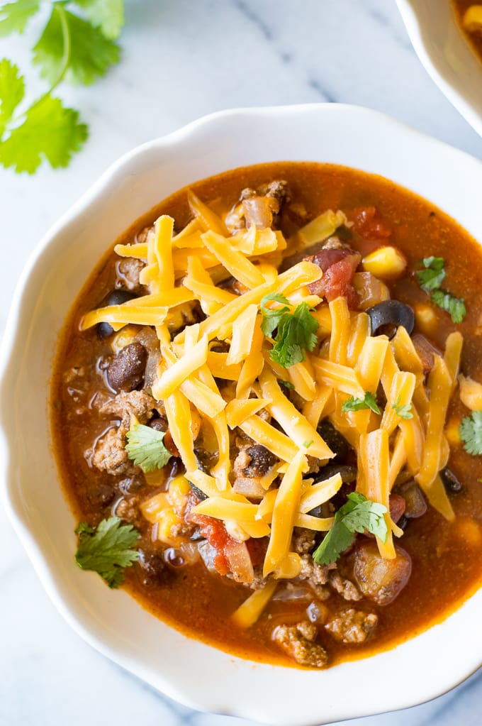 All of these comforting Fall soups can be made and on the table in 30 minutes or less!