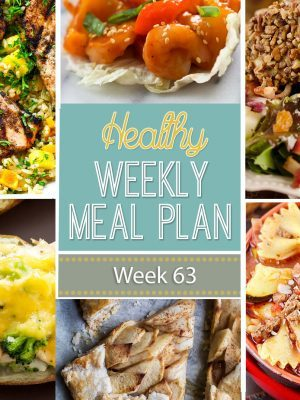 Healthy Weekly Meal Plan #63 is filled with the best healthy fall recipes! From soups to fall inspired salads, we've got you covered for every dinner this week plus a few extra healthy recipes you'll love!