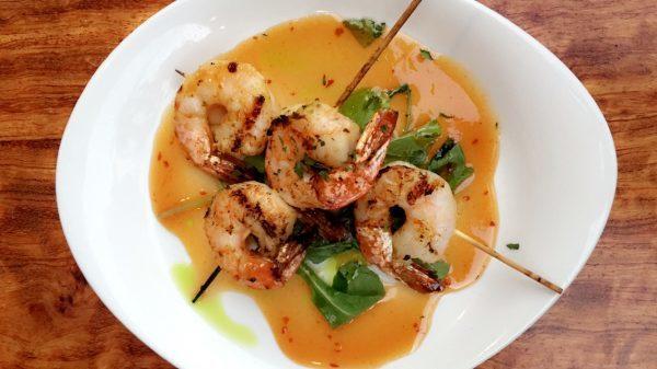 Grilled Thai Shrimp from Keoki's Paradise (The Ultimate Kauai Travel Guide - What to do in Kauai) AD