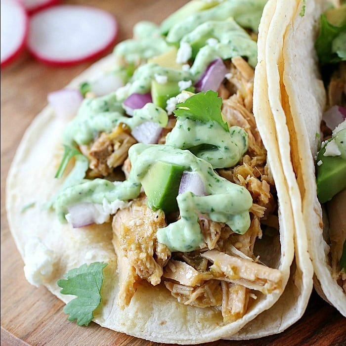 Crock Pot Pork Verde Tacos With Jalape 241 O Sauce Yummy