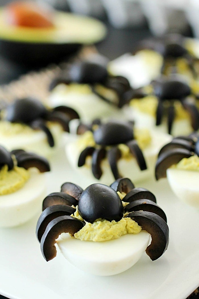 spider avocado deviled eggs - Deviled Eggs For Halloween Spider