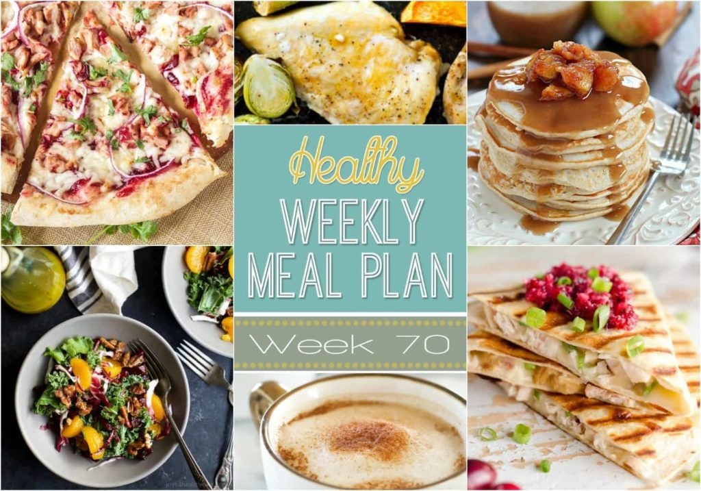 Healthy Weekly Meal Plan #70 - plan out your meals for the week using this easy menu plan! We've put together a healthy dinner recipe for every night of the week, plus a healthy breakfast, lunch, snack and side dish to complete your meals for the week! You will love all of these delicious and creative meals!