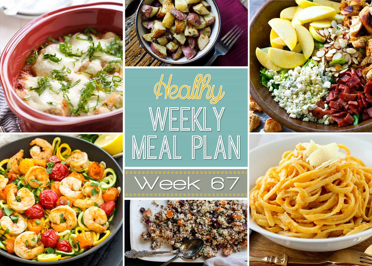 Healthy weekly meal plan 67 yummy healthy easy our healthy weekly meal plan is full of delicious dinner recipes plus a healthy breakfast forumfinder Choice Image