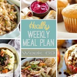 Healthy Weekly Meal Plan #69