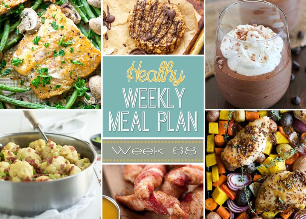 Healthy Weekly Meal Plan #68 - get your weekly menu ready for the week with these easy and healthy dinner ideas! Don't forget the healthy breakfast, lunch, snack and side dish recipes, too! You're welcome. ;)