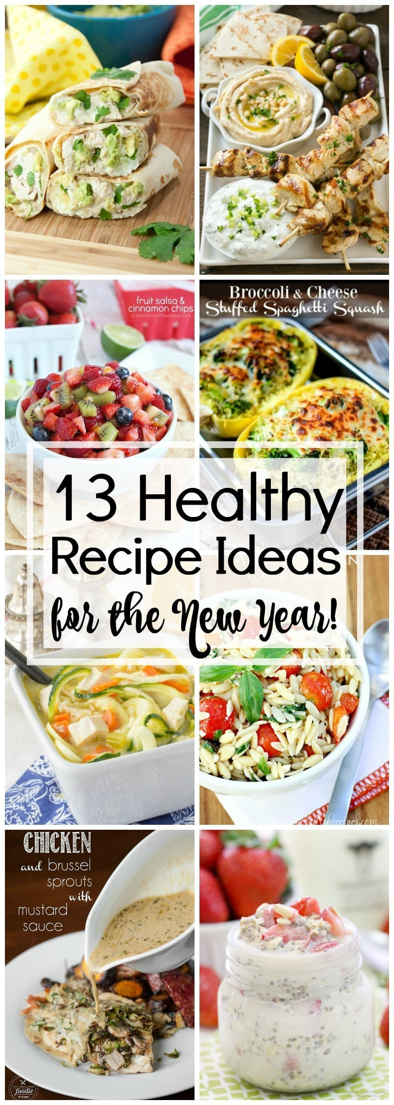 13+ Healthy Recipe Ideas for the New Year! Get healthy in 2017 by eating healthier! Here are some delicious and healthy recipe ideas that will get you started on a healthier eating path!