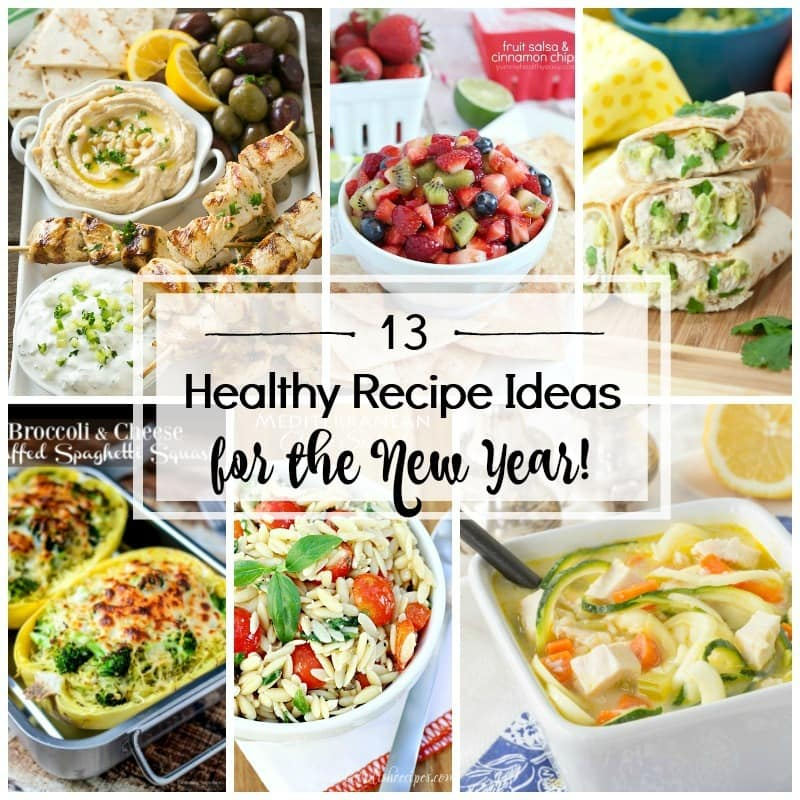 13+ Healthy Recipe Ideas for the New Year! Get healthy in 2017 by eating healthier! I have 13+ healthy recipe ideas that will get you started on a healthier eating path!