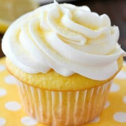 2-Ingredient Lemon Cupcakes & Lemon Frosting