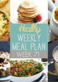 If you're stuck in a dinner rut, try this Healthy Weekly Meal Plan! It includes a dinner for every night of the week plus a healthy breakfast, lunch, side dish and dessert for you to try! It's up on yummyhealthyeasy.com every Saturday morning!