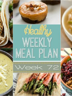 Plan your meals out ahead of time to save time & money! This Healthy Weekly Meal Plan gives you a new healthy dinner recipe every night plus a healthy breakfast, lunch, side dish & dessert. Different recipes every week for you to try!