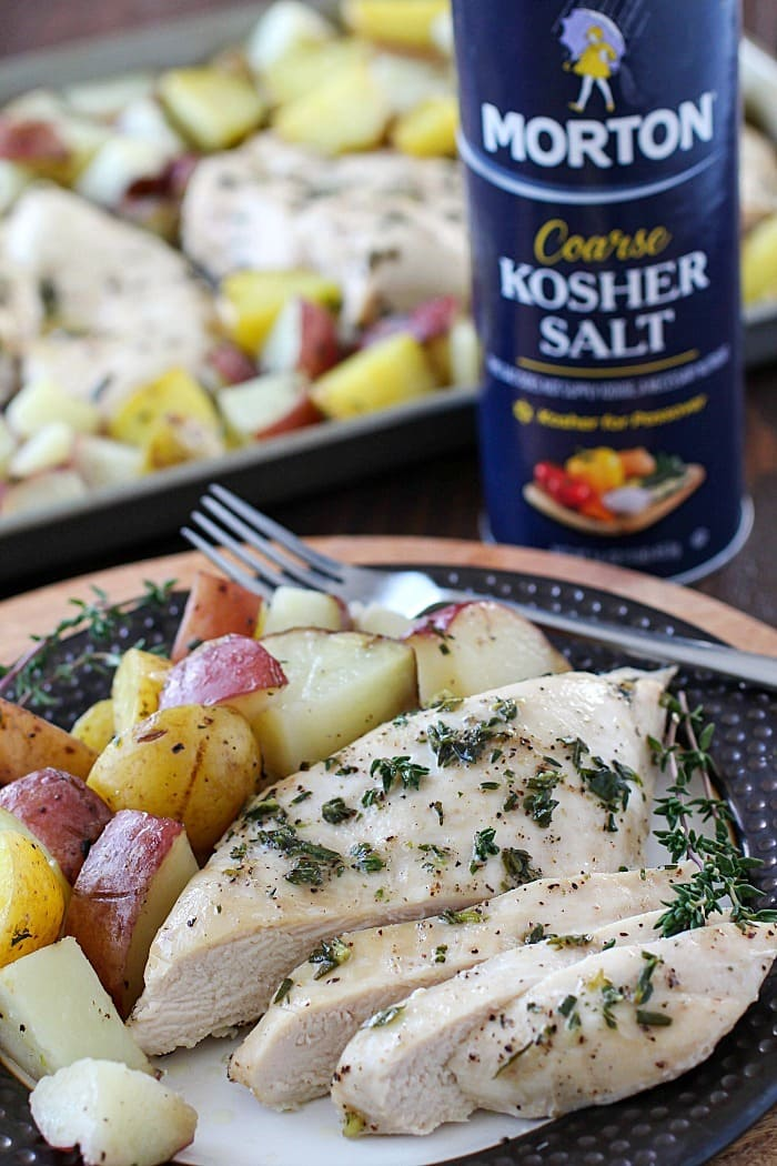 Roasted Chicken With Salt-Baked Potatoes Recipe — Dishmaps