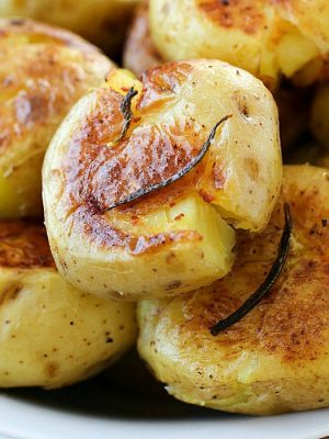 Smashed Potatoes (Potatoes Fondantes)