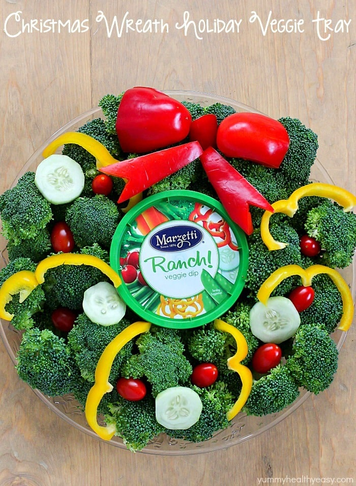 Christmas Veggie Tray.Wreath Holiday Veggie Tray