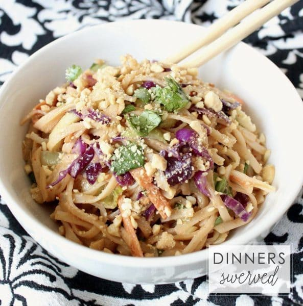 Peanut Noodles - Dinners Swerved