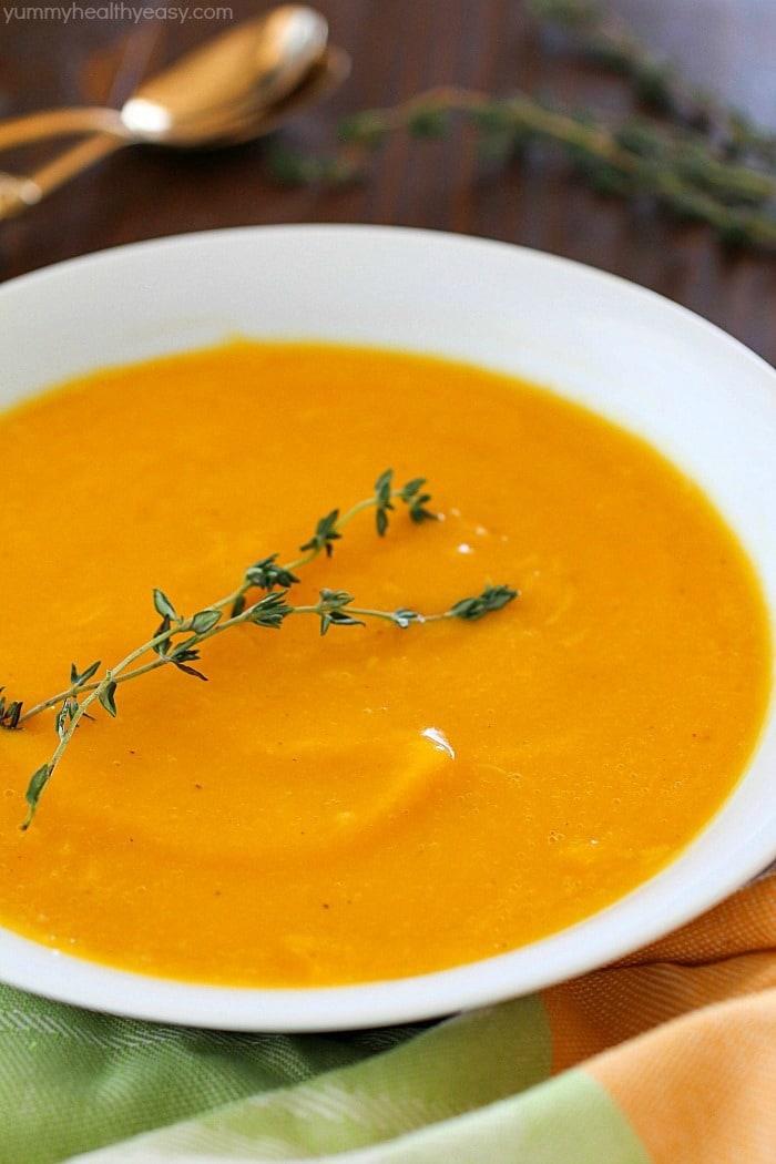 Easy Butternut Squash Soup Yummy Healthy Easy
