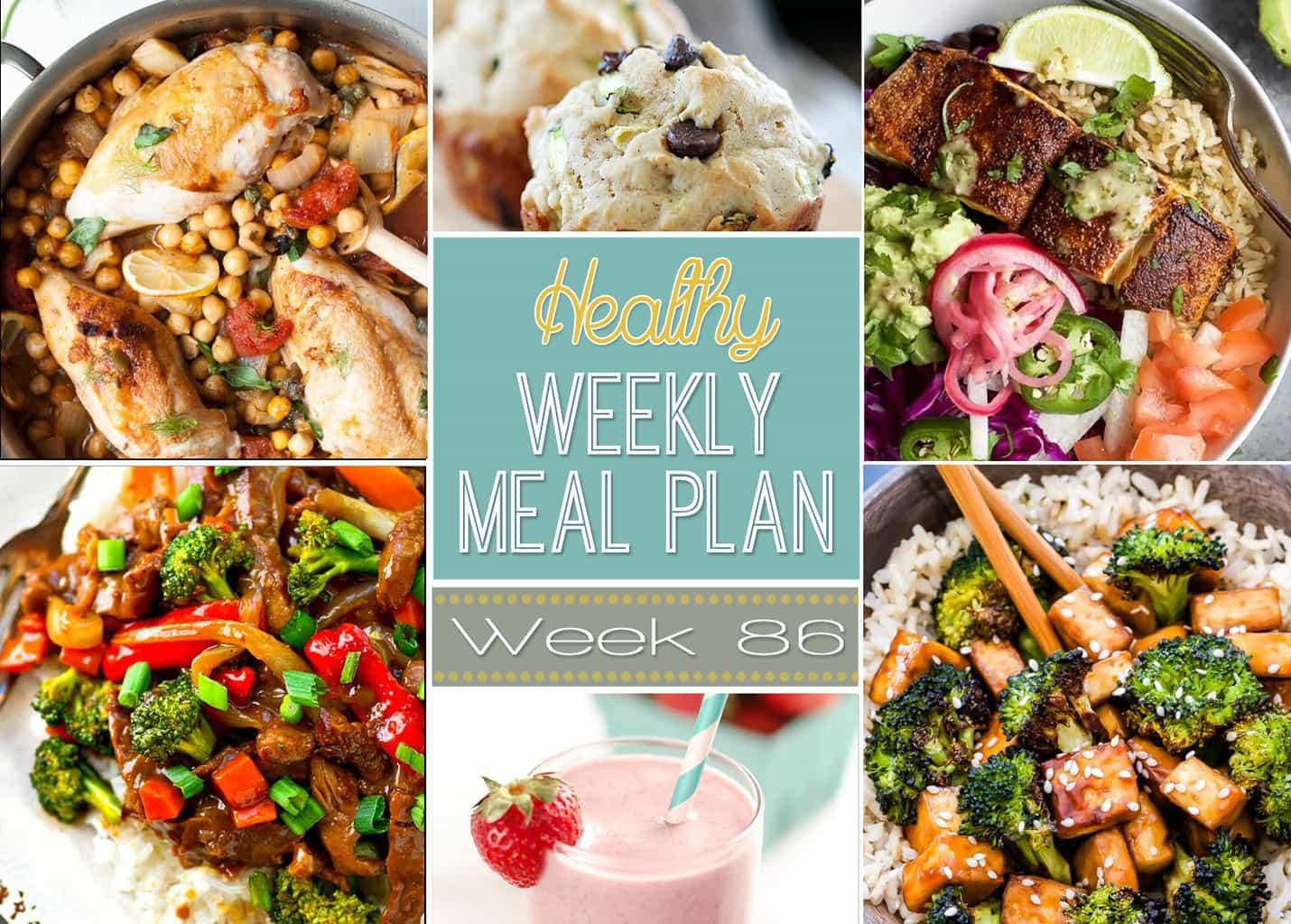 healthy weekly meal plan 86 yummy healthy easy