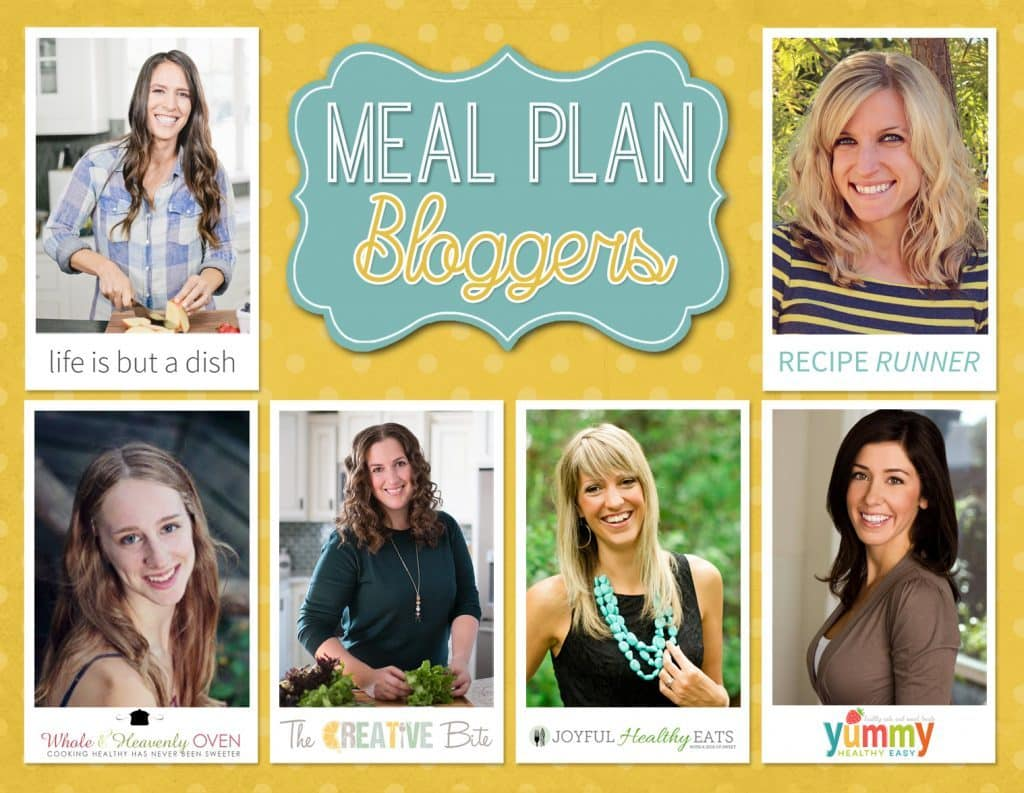 Healthy Weekly Meal Plan Bloggers!