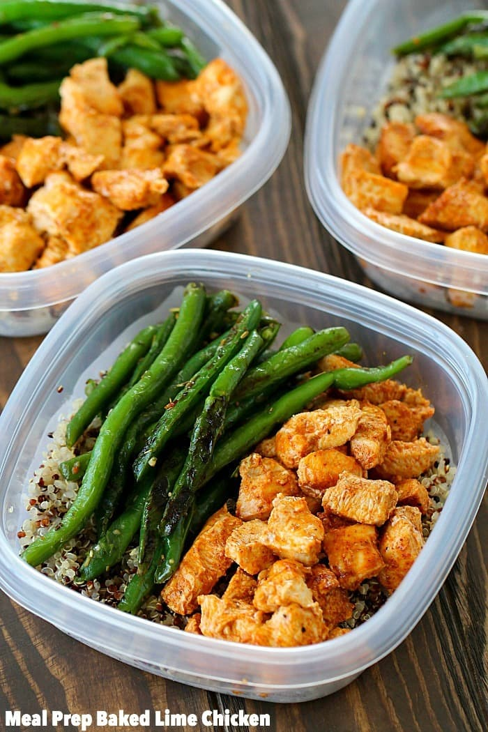 Meal prep baked lime chicken bowls yummy healthy easy be prepared to eat healthy for the week by making your meals in advance these forumfinder Images