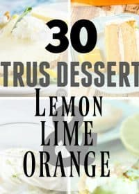 30+ Citrus Desserts that are perfect for any citrus lover