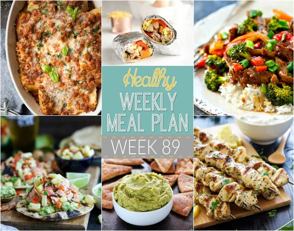 Check out this week's Healthy Weekly Meal Plan! It has a weeks worth of healthy recipes that you & your whole family will love! Recipes for breakfast, lunch, and dinner with a few snacks and a dessert thrown in, too!