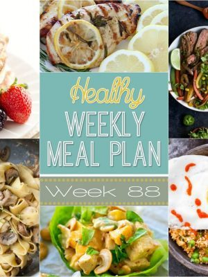 Healthy Weekly Meal Plan #88