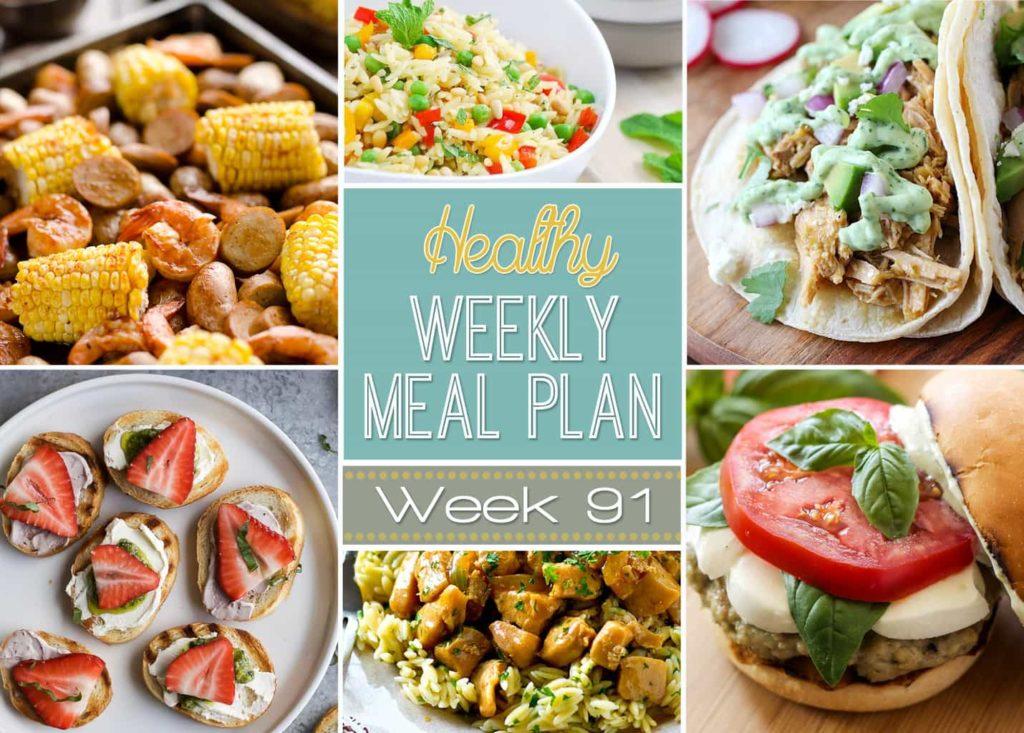 Healthy Weekly Meal Plan Week #91
