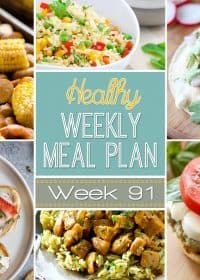 Healthy Weekly Meal Plan Week #91