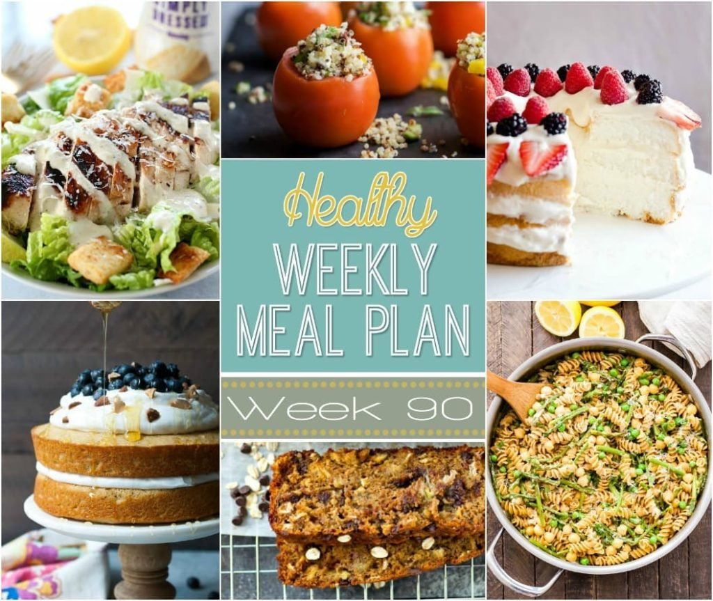 Healthy Weekly Meal Plan Week #90