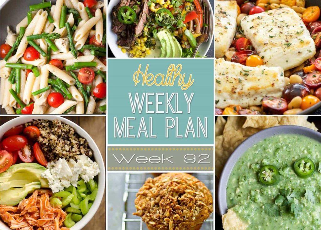Healthy Weekly Meal Plan #92 Menu Planner for the week!