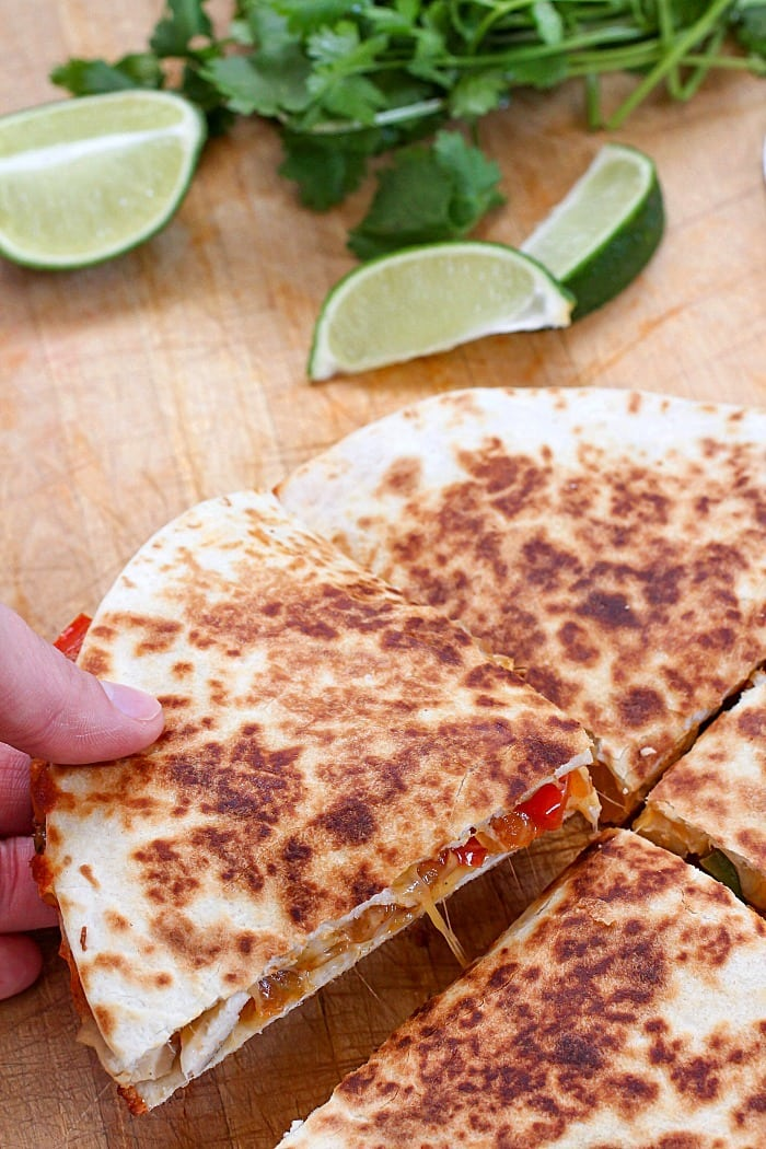 The Best Ever Chicken Fajita Quesadilla!
