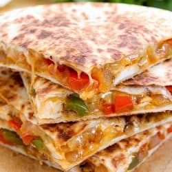 Cheesy Chicken Fajita Quesadilla