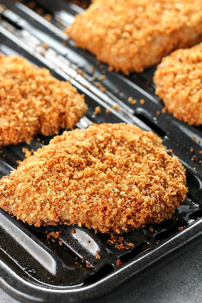 Crispy Baked Breaded Pork Chops Yummy Healthy Easy