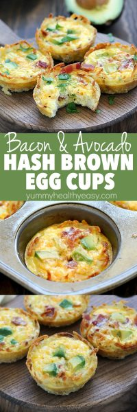 Bacon Avocado Hash Brown Egg Cups make the easiest (and most delicious) breakfast ever!