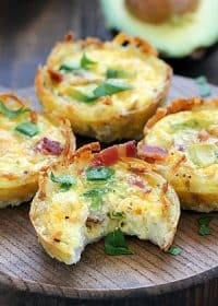 Incredible Bacon Avocado Hash Brown Egg Cups
