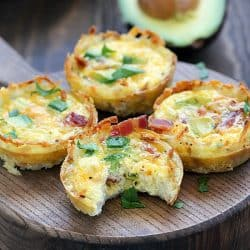 Bacon & Avocado Hash Brown Egg Cups