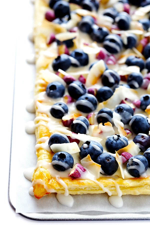 Super Easy Blueberry Almond Tart by Gimme Some Oven