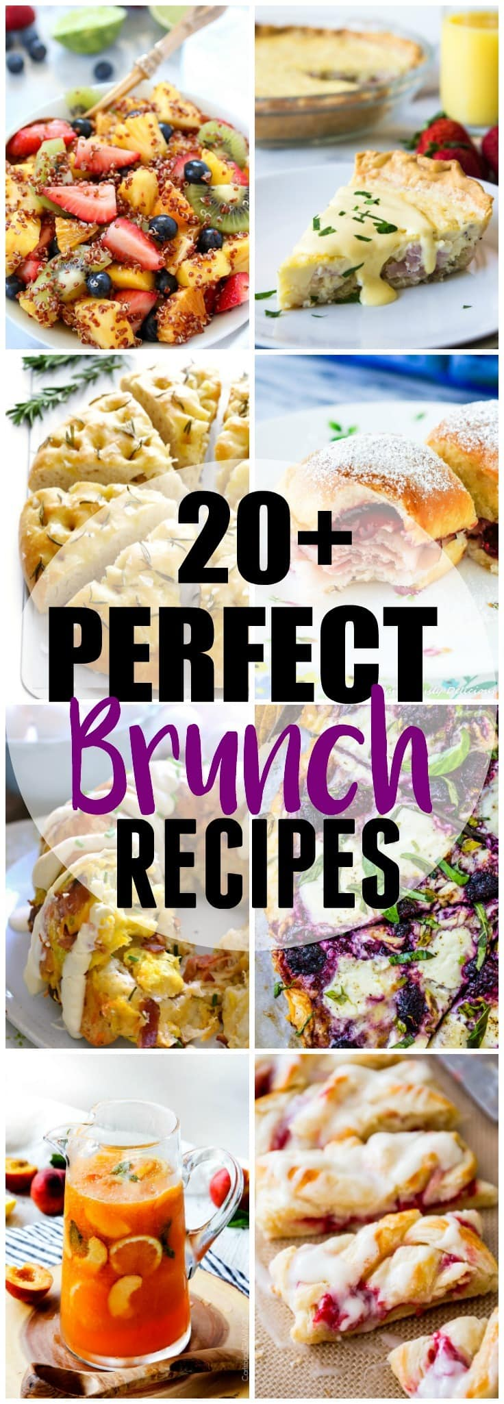 20+ Perfect Brunch Recipes! Enjoy the magical meal of brunch with these 20+ recipes featuring breakfast casseroles, fruit salads, egg dishes, pancakes, waffles and more!