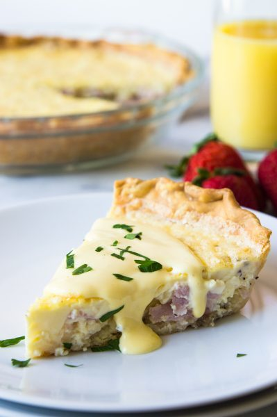 Eggs Benedict Quiche by House of Yumm