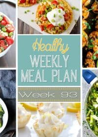 Week 93 Healthy Weekly Meal Plan