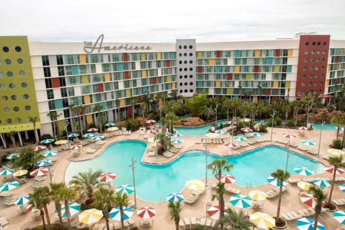 Lazy River Courtyard at Cabana Bay Beach Resort