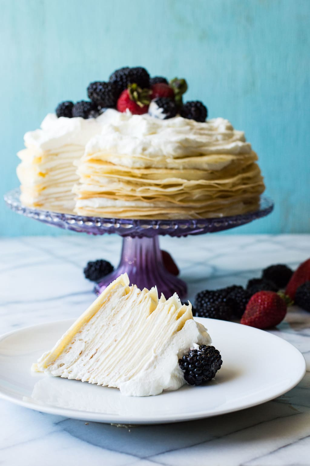 Lemon Cream Crepe Cake by House of Yumm