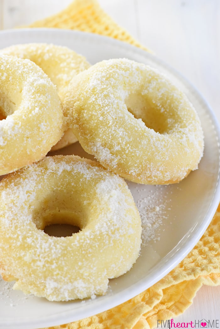 Lemon Sugar Baked Donuts by Five Heart Home