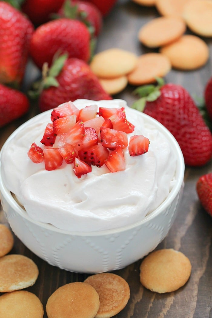 This Strawberry Cheesecake Dip is a deliciously creamy fruit dip that everyone will love!