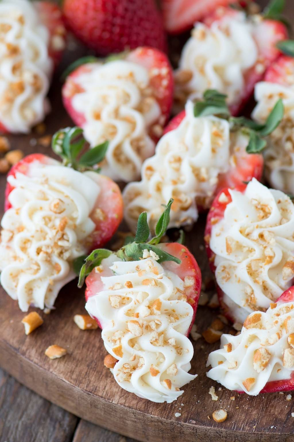Strawberry Pretzel Cheesecake Bites by The First Year