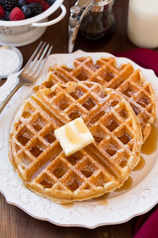 Belgian Waffles by Cooking Classy